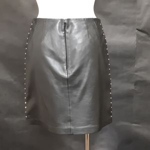 Cache Skirts - Cache Black Leather Mini Skirt Size 2
